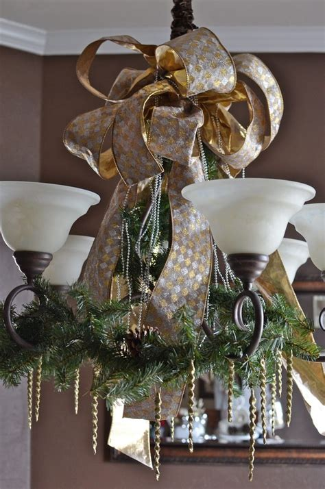 Decorating Chandeliers by 1000 Ideas About Ribbon Garland On Ribbons