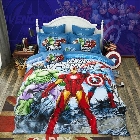 marvel avengers bedding set cotton printed bed sheet set