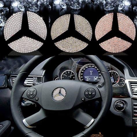car accessories steering wheel logo diamond decoration  mercedes benz sliver ebay