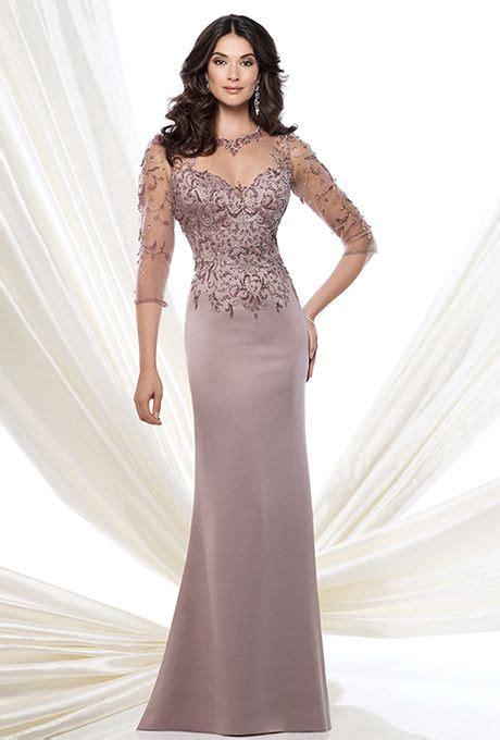 brides montage  mon cheri crepe slim   gown