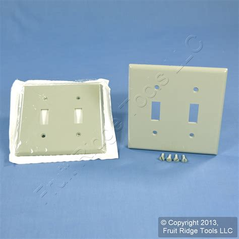 2 leviton gray 2 toggle switch cover wall plates