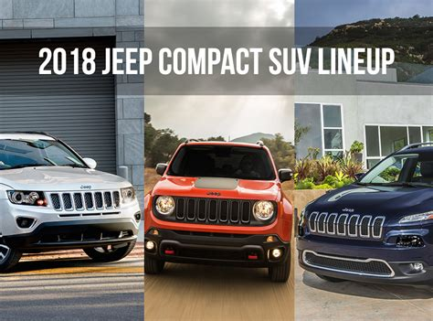 2018 Jeep Lineup by 2018 Jeep Compact Suv Models And Highlights