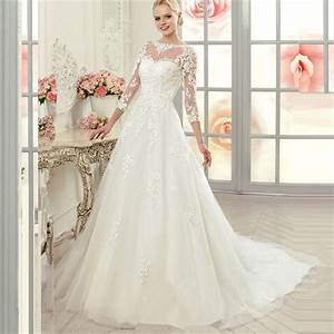 2015 vintage 3 4 sleeve princess lace ball gown wedding With 3 4 sleeve ball gown wedding dress