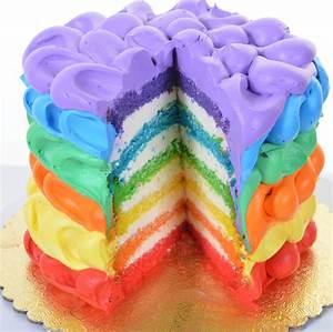 Rainbow Cake Decorating Tutorial - How to decorate rainbow