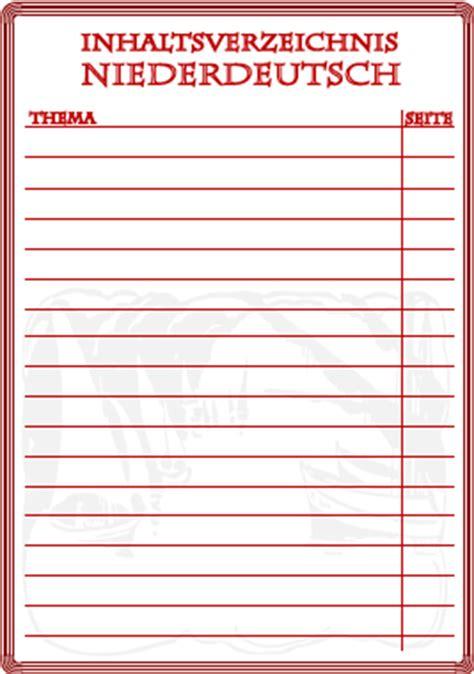 inhaltsverzeichnis niederdeutsch ausdrucken