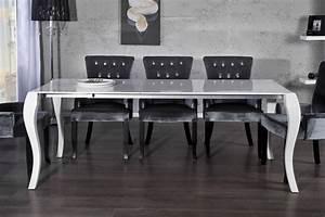 Barock Möbel Weiß : casa padrino barock esstisch hochglanz wei mit auszug 170 200 230cm esszimmer tisch barock ~ Markanthonyermac.com Haus und Dekorationen