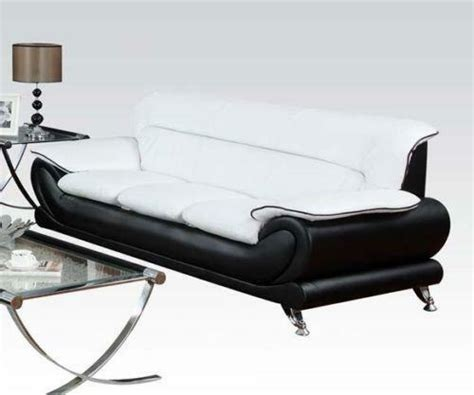 White Leather Sofa Ebay by Black And White Leather Sofa Ebay