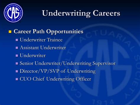 Career, salary and education information. PPT - Underwriting & Association Careers PowerPoint Presentation, free download - ID:3482430
