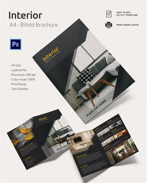 4 Panel Brochure Template Indesign Brochure Template Media Interior Design Brochure 226 20 Free Psd Eps Indesign