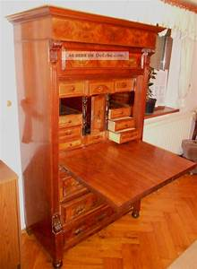 Antik Mbel Intarsien Sekretr Um 1900