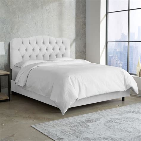 tufted bed skyline furniture tufted bed in velvet white ebay