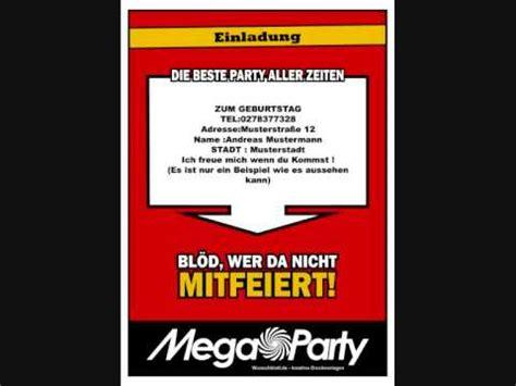 mega party erstelle einladungen und vieles mehr