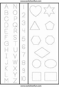 5 best images of printable letters and numbers for With traceable letters and numbers for preschoolers