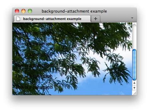 Css Background Attachment Css Properties Background Attachment W3c Wiki