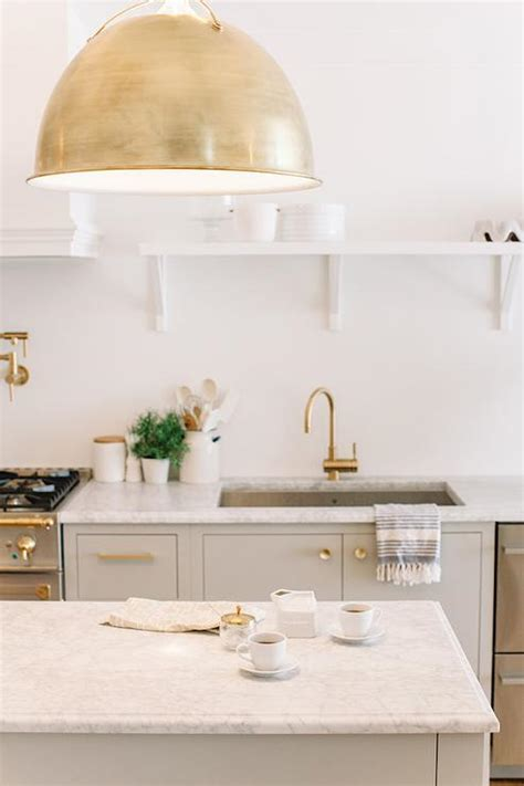 gray  gold kitchen design transitional kitchen