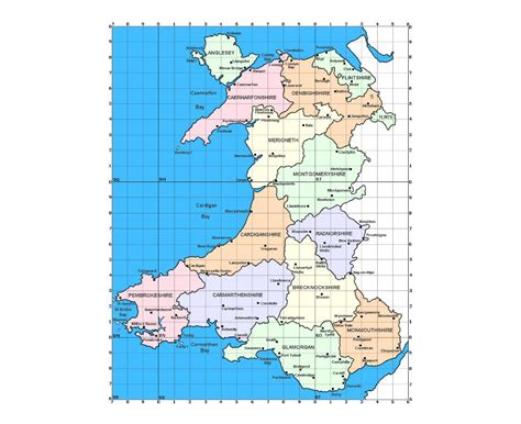 maps  wales collection  maps  wales united