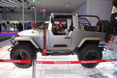 mahindra jeep 2016 mahindra thar custom auto expo 2016 live
