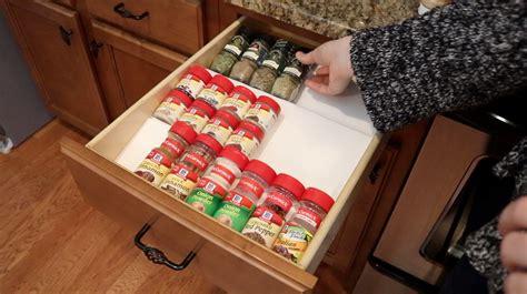 dollar tree kitchen hacks   spice drawer