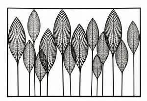 Deco Murale Metal Noir : d co murale rectangulaire 14 feuilles m tal noir j line by ~ Dallasstarsshop.com Idées de Décoration