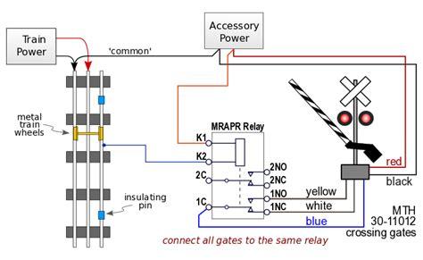 Relay Train Detector Circuit For Rail Track