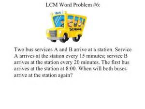 Least Common Multiple Word Problems