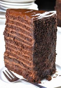 24 Layer Chocolate Cake - OMG Chocolate Desserts