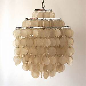 Capiz shell chandelier by verner panton for sale at stdibs