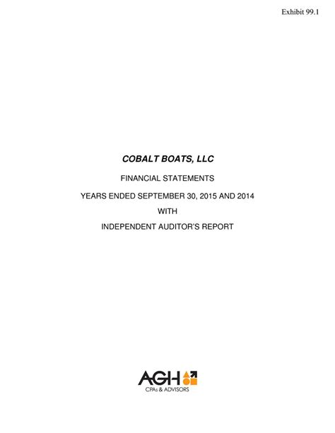 Cobalt Boats Llc by Page 1