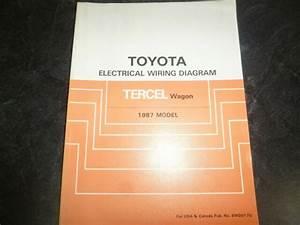 1987 Toyota Tercel Wagon Electrical Wiring Diagrams Manual