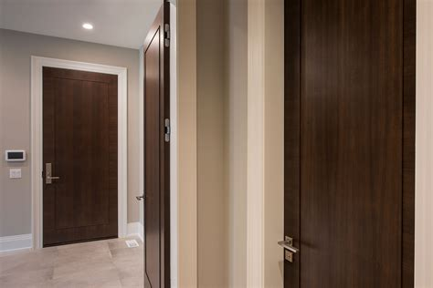 Modern Interior Doors, Wood Veneer Solid Core, Custom