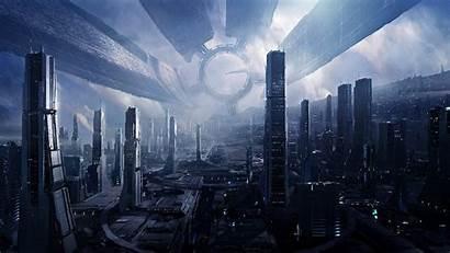 Mass Effect Concept Space Station Futuristic Citadel