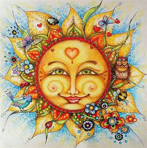 Pin by Tanja Hildenbrandt on Suns & Moons | Celestial art ...