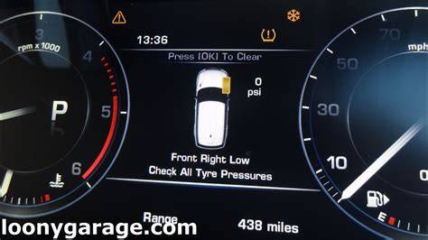 reset  tyre pressure light tpms youtube