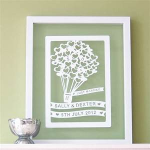 personalised wedding gift paper cut With personalized wedding gifts uk