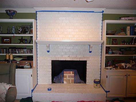 white fireplace paint painting brick fireplace from white to beautiful