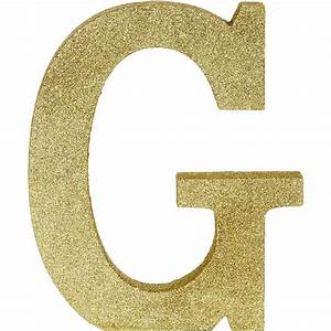 Glitter Gold Letter G Sign 7 1  2in X 9in