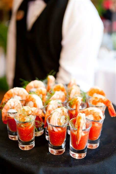 cocktail canapes ideas butlered shrimp cocktail shooters for the penthouse