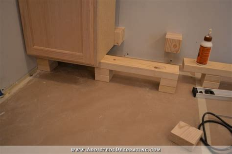 how to install base cabinets kitchen cabinet installation underway