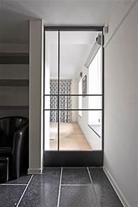 idee separation de piece portes vitree salon david With meuble pour entree de maison 6 porte coulissante atelier dartiste vitree et en acier 1
