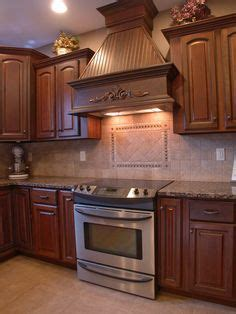 wooden cabinets kitchen range with a wood mantle design custom kitchens 1156