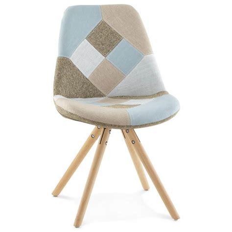 chaises style scandinave chair patchwork style scandinavian bohemian fabric blue