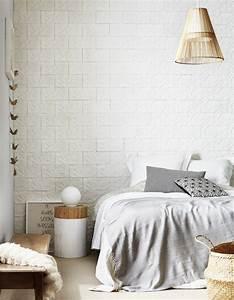 Papier Trompe L Oeil : une chambre blanche rythm e par du papier peint trompe l ~ Premium-room.com Idées de Décoration