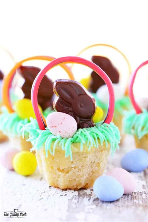 easter basket cookie cups  gunny sack