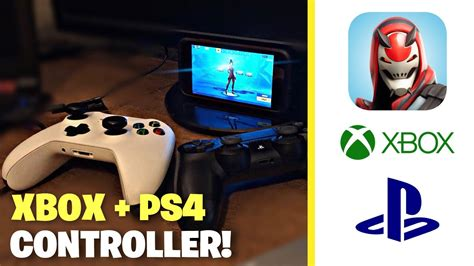 play fortnite mobile  xbox  ps controller