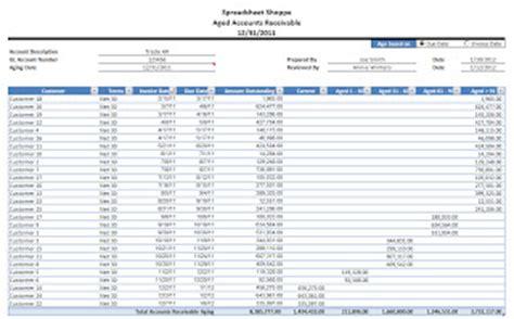 quickbooks excel receivables aging report generator