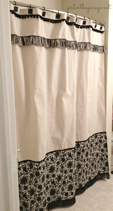 diy custom shower curtain in the garage 174