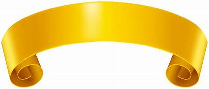 Banner Yellow Clip Clipart Transparent Banners Ribbons