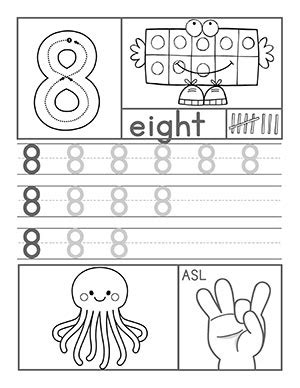 preschool number worksheets 414 | Number8