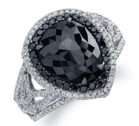 black engagement rings for