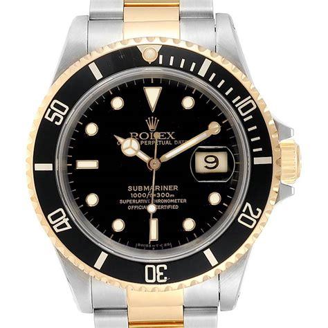 Rolex Submariner Date Steel 18K Yellow Gold Mens Watch ...